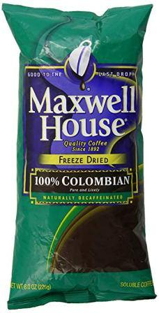 Maxwell House Decaf Colombian Freeze Dried Coffee