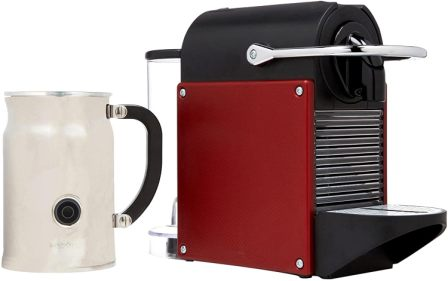 Nespresso D60 Pixie with Aeroccino Plus Milk Frother