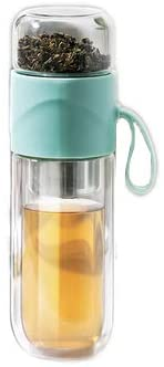 Glass Tea Bottle Double Layer Glass Tea Infuser by sweet decorations