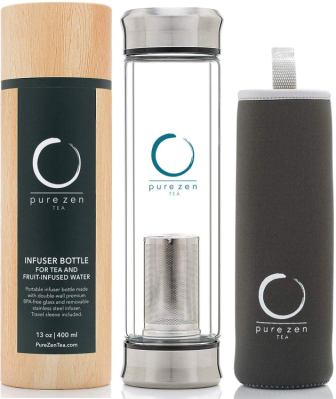 Pure Zen tea tumbler with infuser